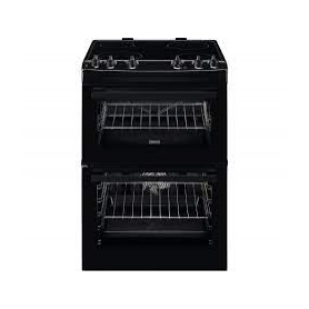 Zanussi 60cm Electric Double Oven with Ceramic Freestanding Oven